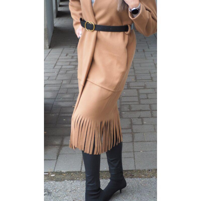 Gyapjú hatású kabátka barna