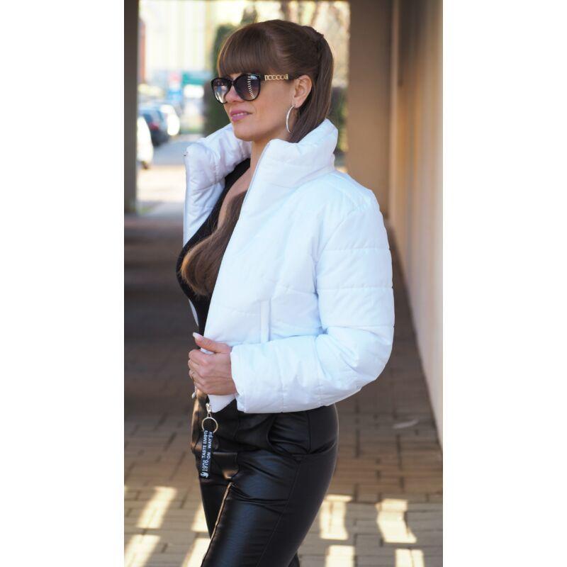 Rövid dzseki fehér L méret