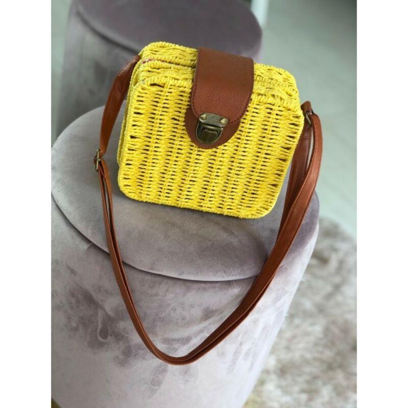 Fonott táska sárga