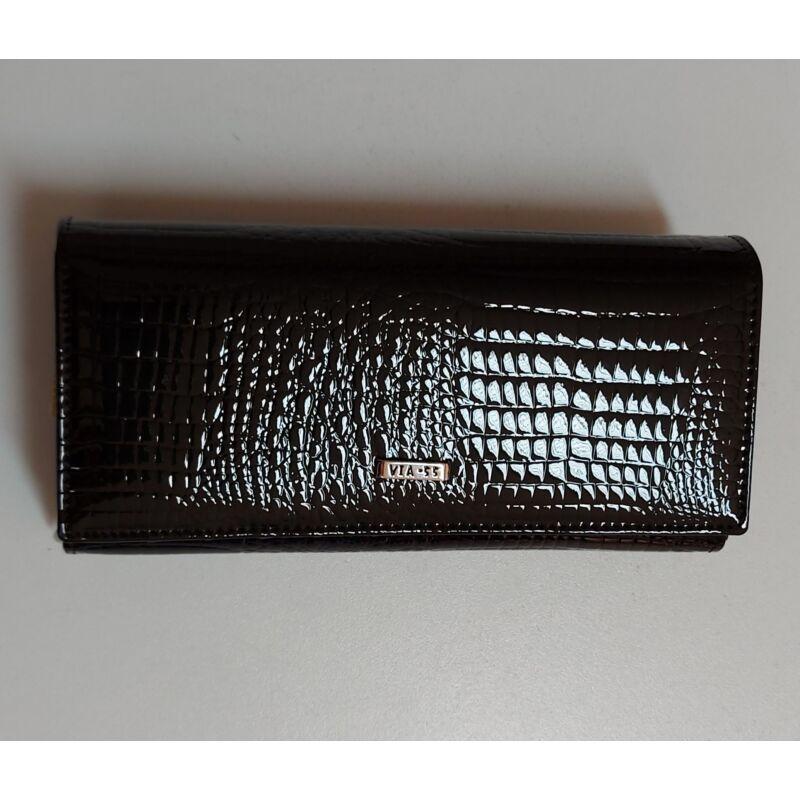 VIA55 Fekete nagyobb pénztárca