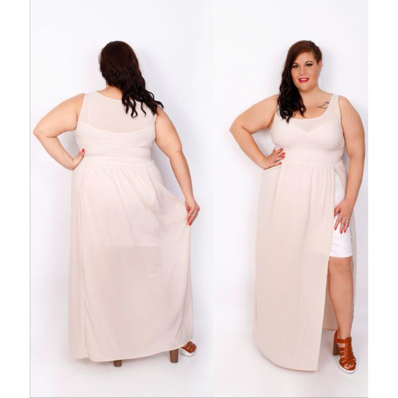 DIVA bézs maxi ruha
