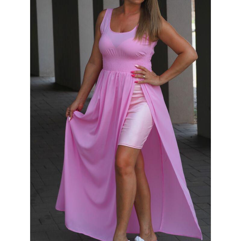 DIVA rózsaszín maxi ruha