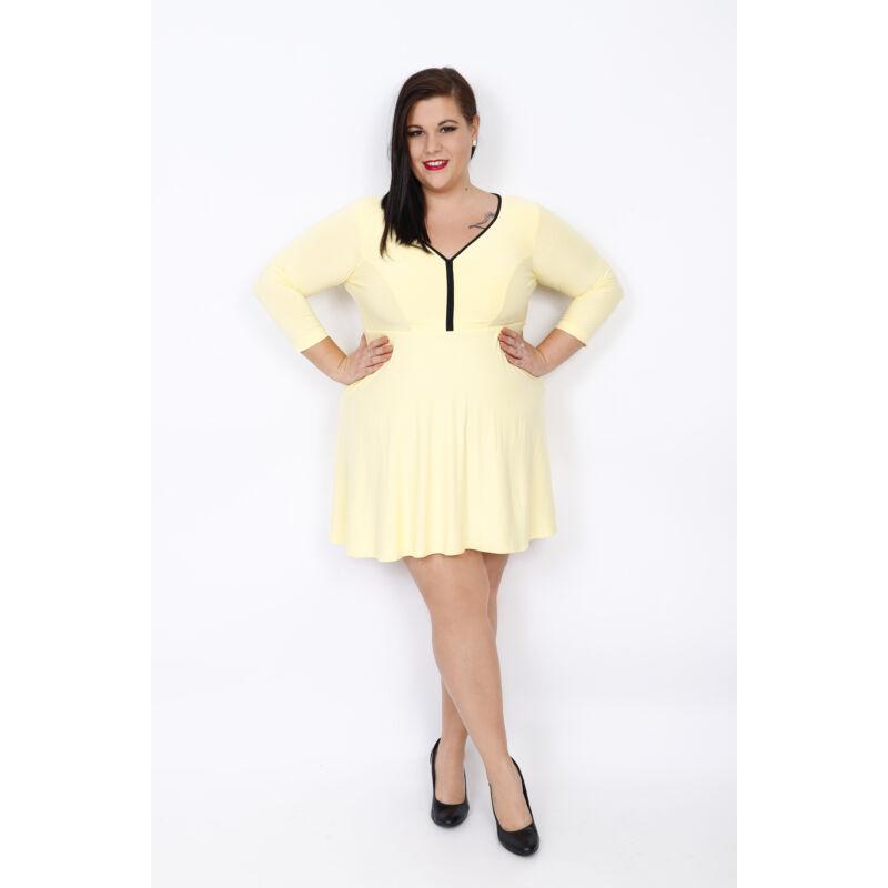 Zita pamut ruha fagyi sárga