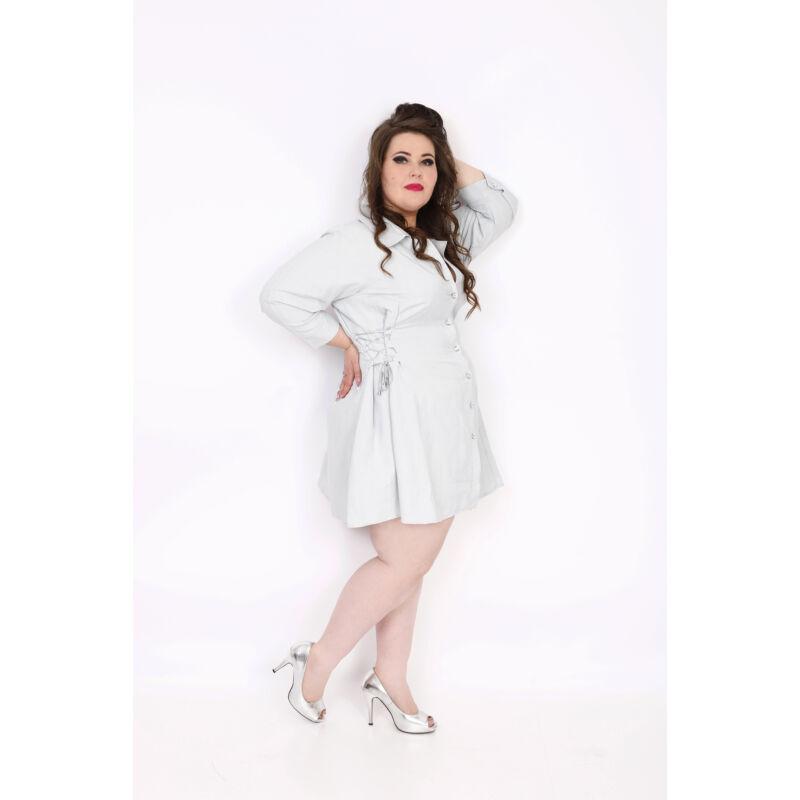 Fűzős ingruha szürke Clara