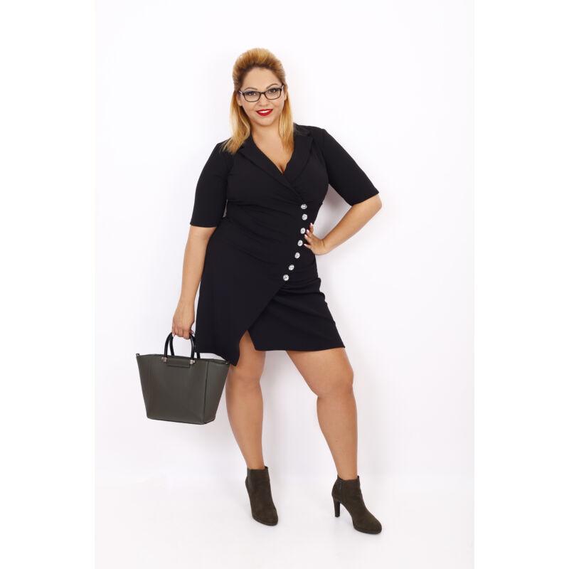 Christina Köves rövid ujjú ruha fekete