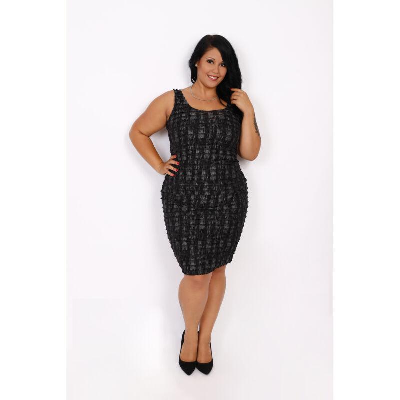 Csilla fodros ujjatlan ruha 44 mérettől 52 méretig