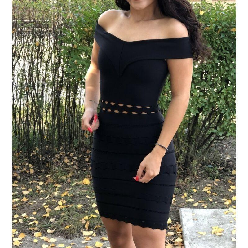 Fekete bandázs alakformáló ruha