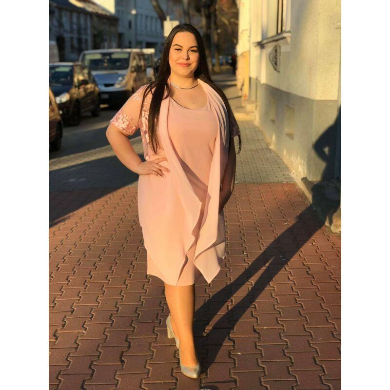 Wannabee alkalmi ruha csipkés muszlin felsővel rózsaszín