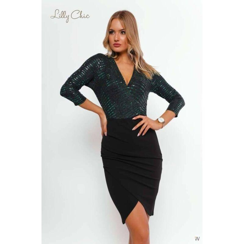 Lilly Chic alkalmi ruha felül zöld XL-es méret