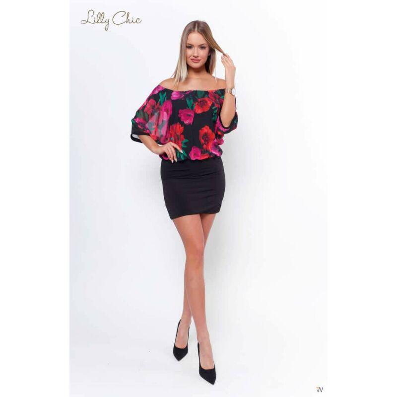 Lilly Chic ciklámen rózsás ruha