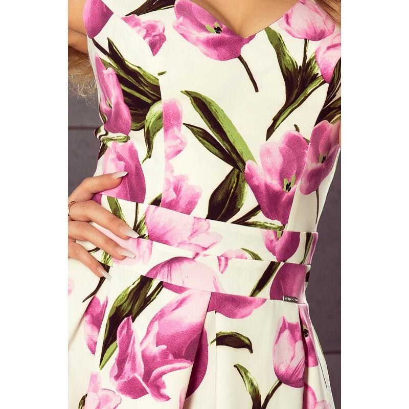 Ujjatlan tulipán mintás ruha