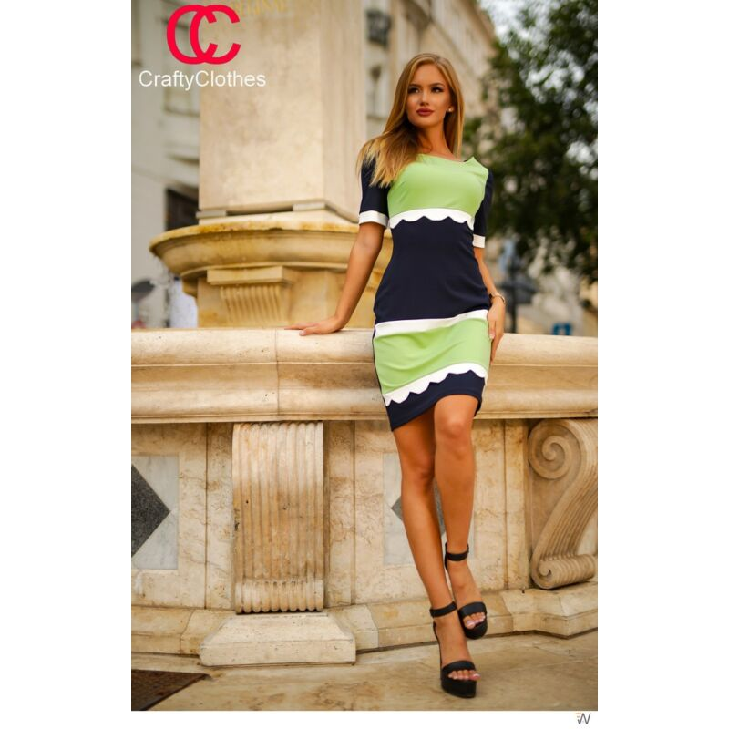 CC Kék menta rövid ujjú ruha