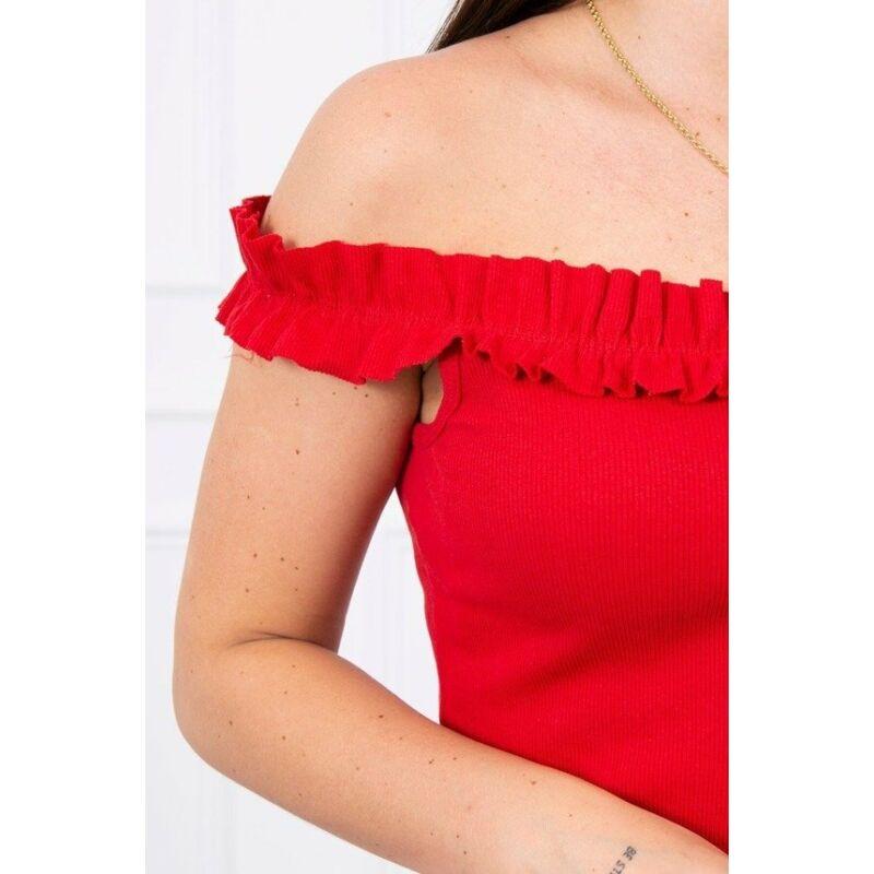 Bordázott fodros ruha többféle színben