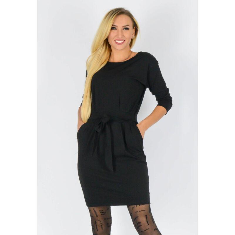 Pamut ruha derékban megköthető fekete