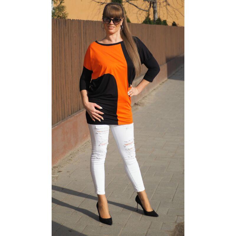 Tunika narancs-fekete egyméretes
