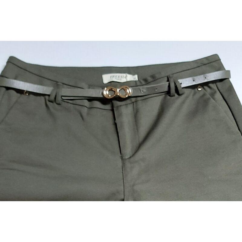 Freesia Keki színű nadrág övvel XL-es méret