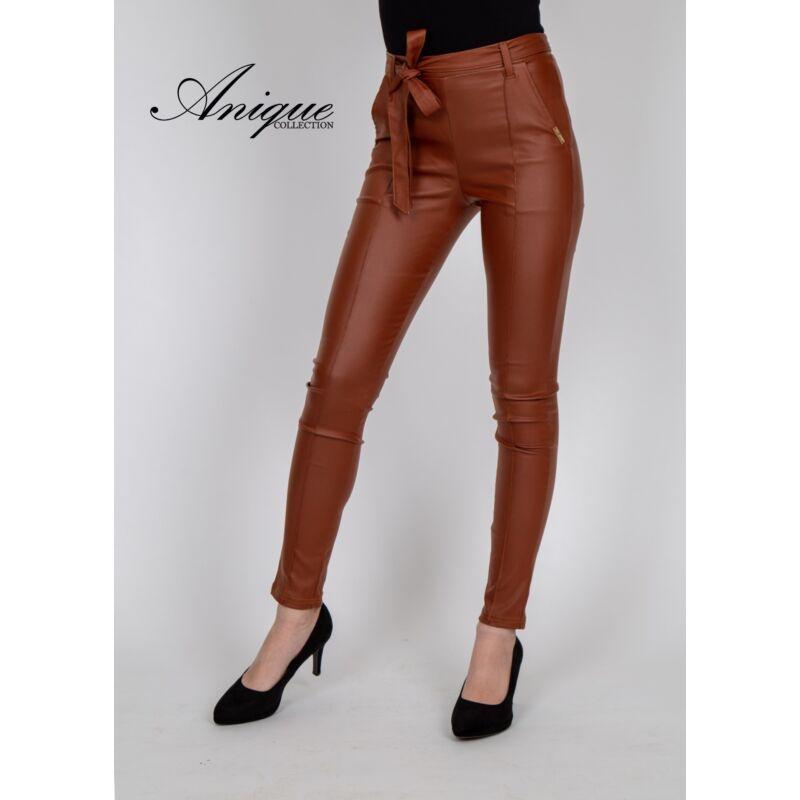 Anique barna bőr bengalin nadrág