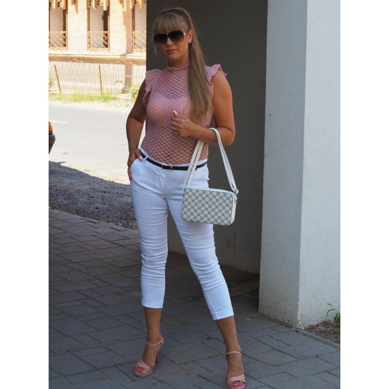 Nyári nadrág övvel fehér