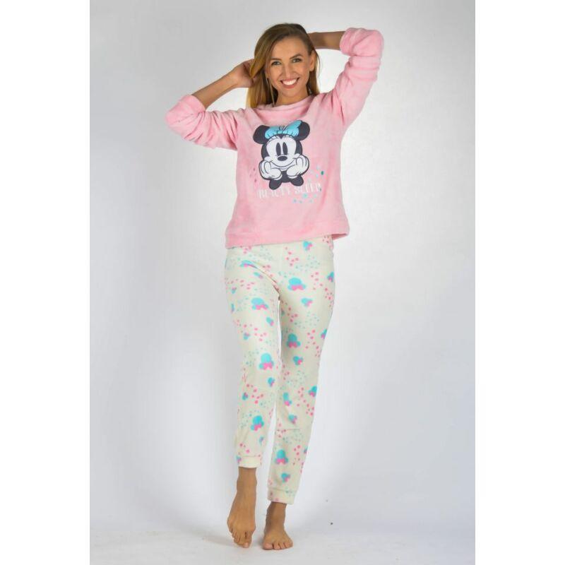 Minnie mintás két részes pizsama púder felsővel