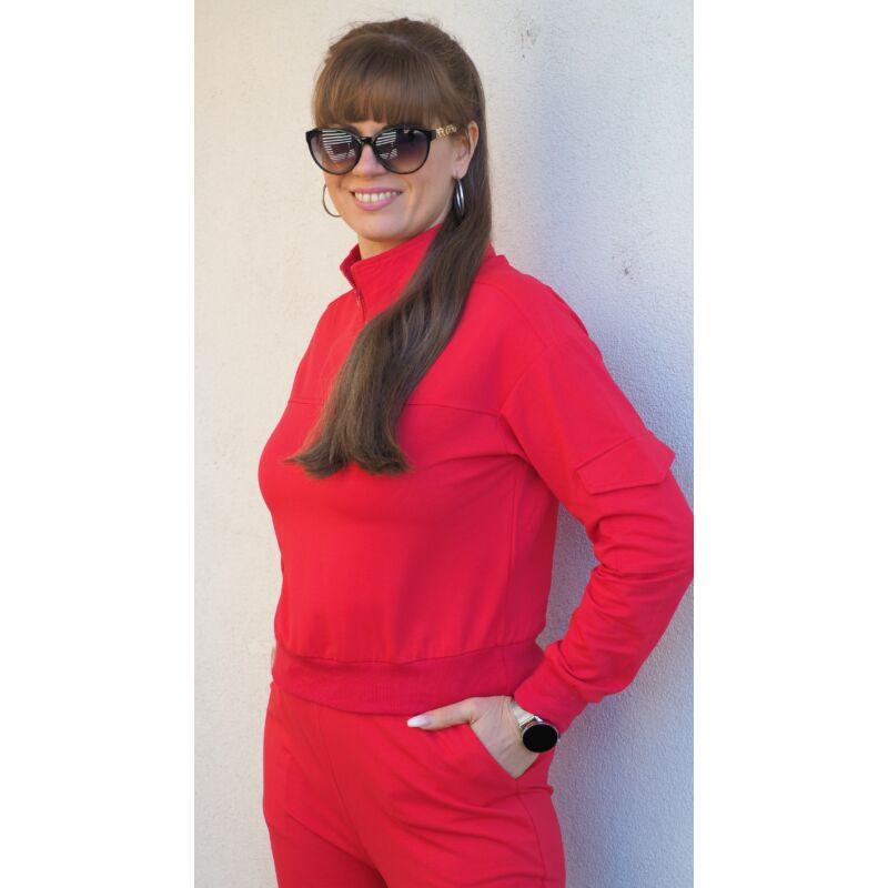 Bemelegítő szett piros