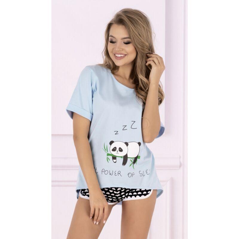 Panda macis rövidnadrágos pizsama rövid ujjú felsővel