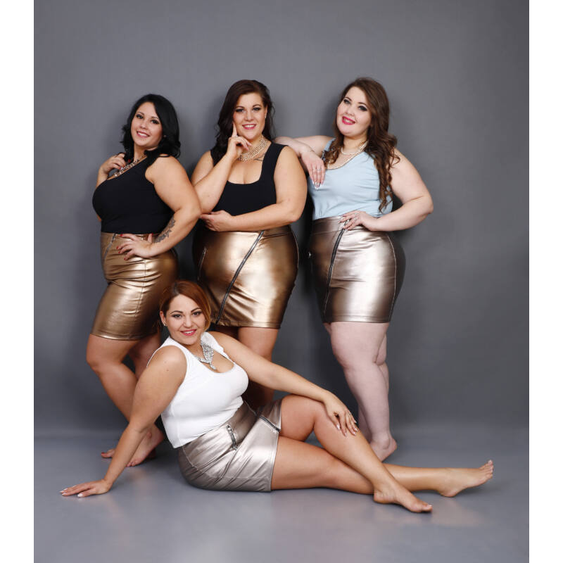 Bedoora Textilbőr szoknya arany